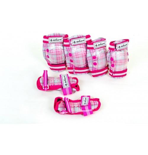 Защита детская спортивная наколенники, налокотникм, перчатки ZEL SK-4678P CANDY