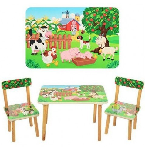 Детский стол со стульчиками «Ферма» (501-10)