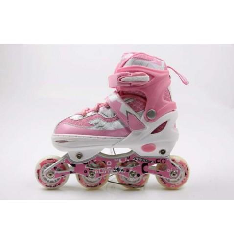 Детские роликовые коньки Power Sport Pink