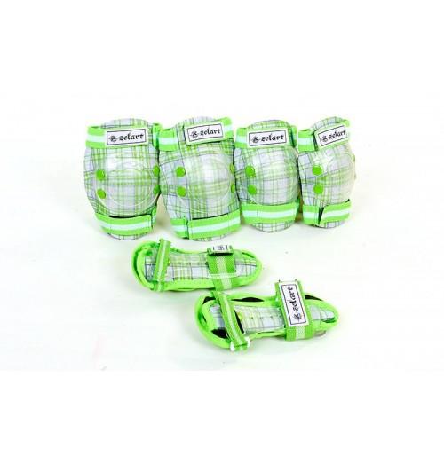 Защита детская спортивная наколенники, налокотникм, перчатки ZEL SK-4678G CANDY