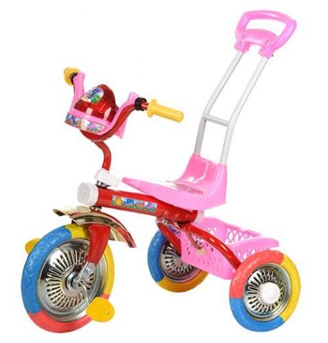 Велосипед с ручкой трехколесный Bambi 2-2/6011