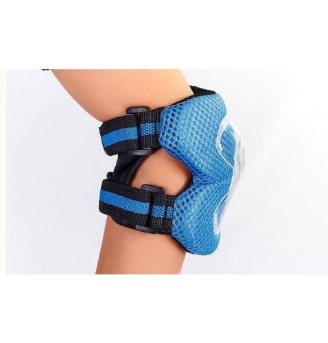 Защита детская спортивная наколенники, налокотникм, перчатки ZEL SK-4679B LUX