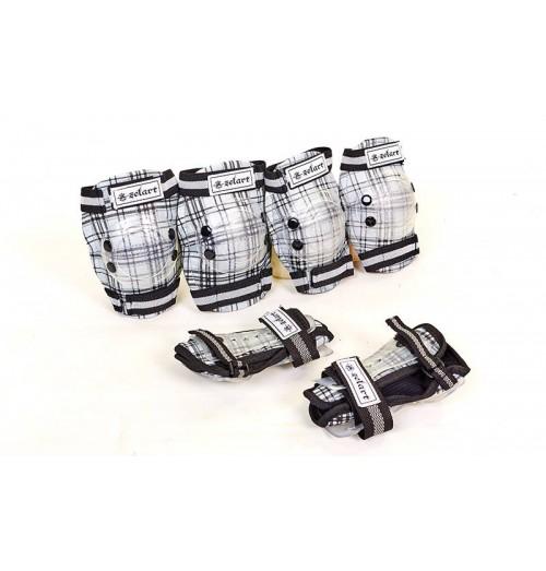 Защита спортивная, детская (налокотники, наколенники, перчатки) ZEL SK-4678BК CANDY