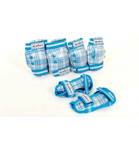 Защита детская спортивная наколенники, налокотникм, перчатки ZEL SK-4678BL CANDY