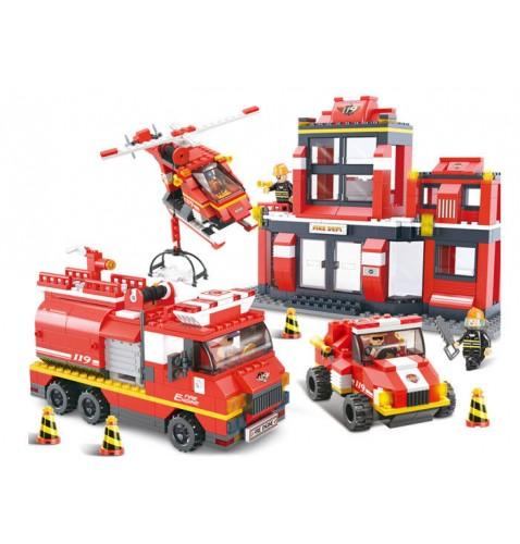 Конструктор SLUBAN M38-B0226 «Пожарные спасатели»
