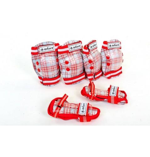 Защита детская спортивная наколенники, налокотникм, перчатки ZEL SK-4678OR CANDY